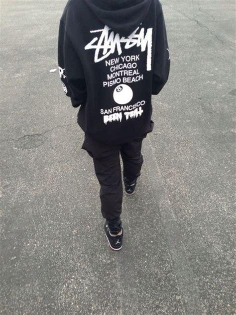 jacket stussy clothes retro black and