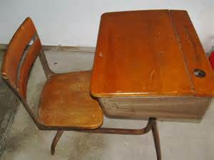 value of school desk vintage school desk wood with ink well