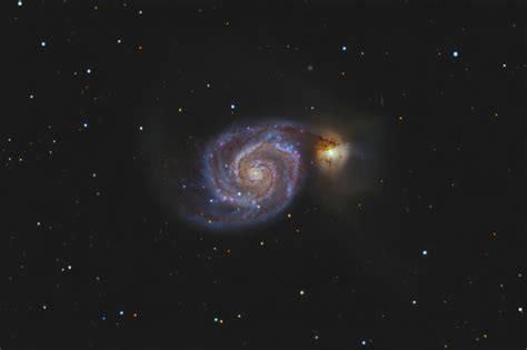 whirlpool galaxy m51 the whirlpool galaxy sky telescope