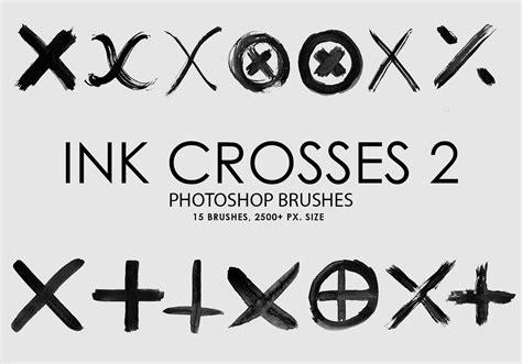 shape pattern brushes free ink crosses 2 photoshop brushes free photoshop