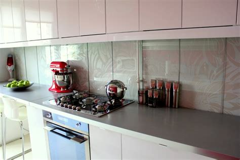 customized glass backsplash get home decorating