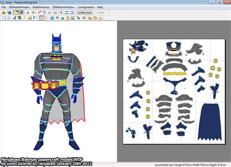 Batman Papercraft - ninjatoes papercraft weblog december 2011