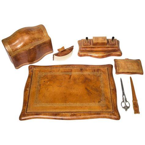 leather desk blotter set italian leather desk set italian leather leather and