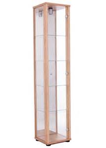 Glass Display Cabinet Single Door Glass Display Cabinet Oak