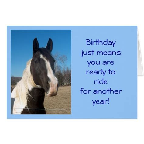 printable birthday cards with horses horse birthday card zazzle