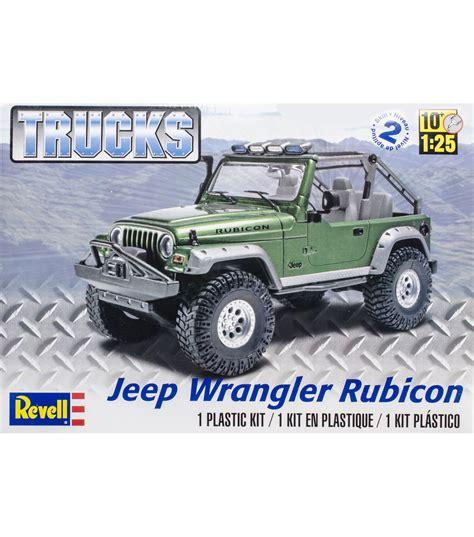 Jeep Wrangler Model Kit Plastic Model Kit Jeep Wrangler Rubicon 1 25 Jo