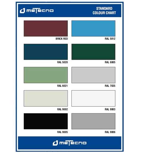 painting standards color chart metecno india limited
