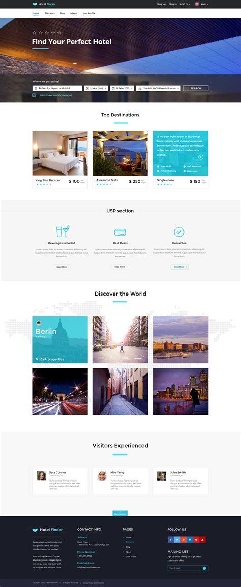 Hotel Finder Online Booking Html Website Template By Bestwebsoft Booking Website Template
