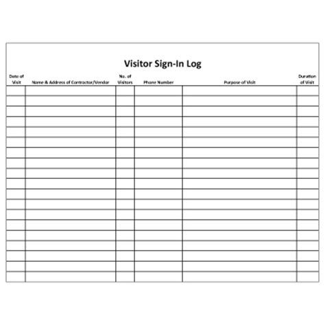 mining security forms visitor log security forms seton