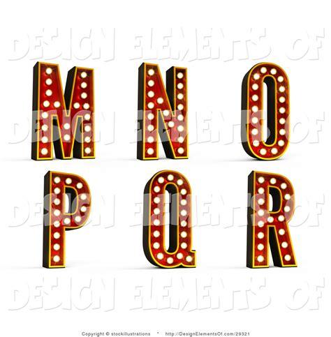 design elements theatre illustration of theatre light alphabet m through r by