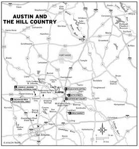 road map of hill country map of and the hill country