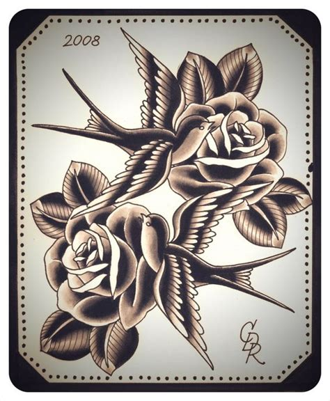 rose swallow tattoo the world s catalog of ideas