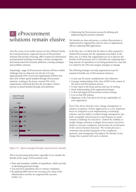 Chief Procurement Officer by Global Chief Procurement Officer Survey 2010 Web Edition