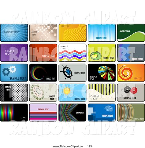 Credit Card Graphic Template Royalty Free Stock Rainbow Designs Of Marketing Business Cards