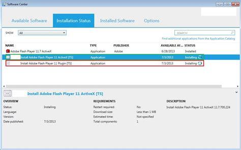 reset software center sccm installing status for program in software center never ends