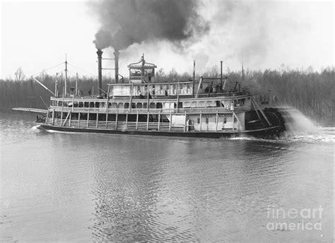steamboat art stern wheel steamboat belle of calhoun 1906 bw photograph