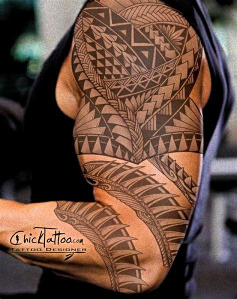 badass polynesian custom tattoo design by chicktattoo get