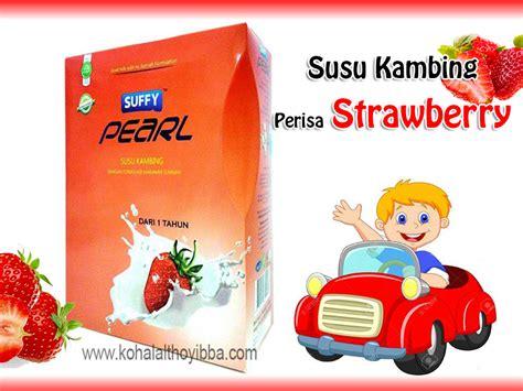 yummy sedapnye susu kambing berperisa strawberry suffy
