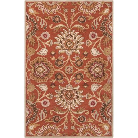 home depot wool area rugs artistic weavers amanda rust wool 2 ft 6 in x 8 ft area rug amn2001 268 the home depot