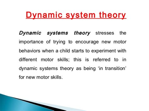 dynamic pattern theory of motor control cerebral palsy context verses child focused therapy