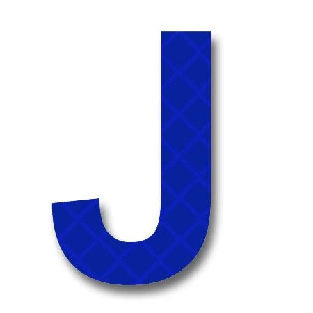 blue j afterglow retroreflective 2 inch letter quot j quot blue