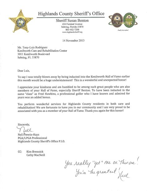 professional business letter signature hof letter from pga professional kenilworth care and