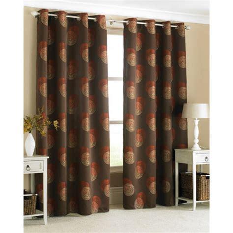 orange ring top curtains stylish ring top curtain pair spiro brown with orange