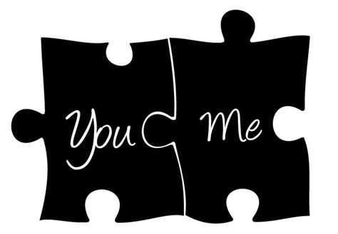 you and me puzzle wall decal romantic wall decor