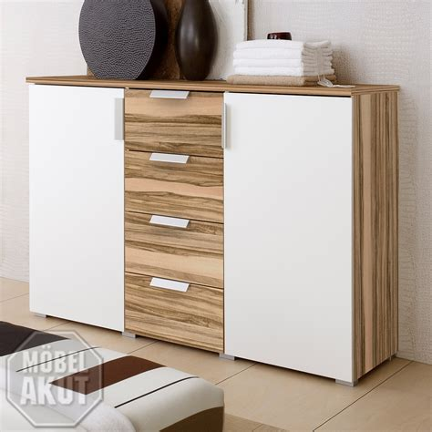 KOMMODE ECO SIDEBOARD WEIß /BALTIMORE WALNUSS   NEU!