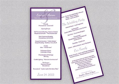 diy wedding program template diy wedding program template instantly