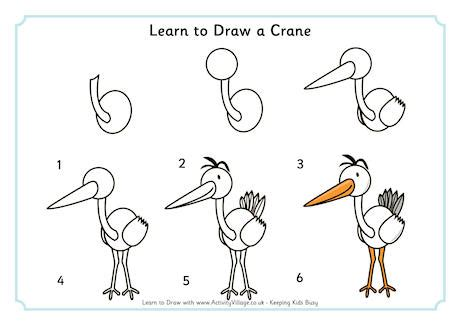 libro drawing birds learn to learn to draw a crane