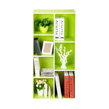 Jual Rak Buku Funika jual funika 13227 gr wh rak buku hijau 7 kotak