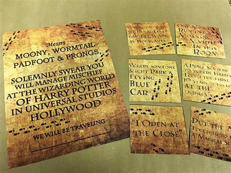 printable universal studios tickets harry potter marauder s map vacation surprise for