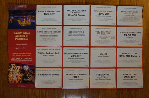 caesars entertainment check in get coupons mark s las