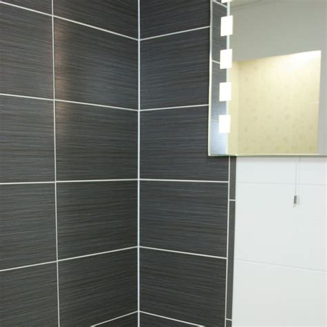 tulda black glazed ceramic wall tile 40x25cm from the
