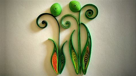 How To Make Paper Quilling - how to make quilled leaves using paper quilling part