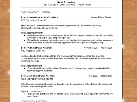 Resume Chronological Order by How To Write A Chronological Resume With Sle Resume