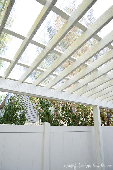 Clear Pergola Roofing Outdoor Goods Pergola Clear Roof