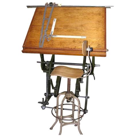 Drafting Table For Architects An 19th C Architect S Drafting Table At 1stdibs