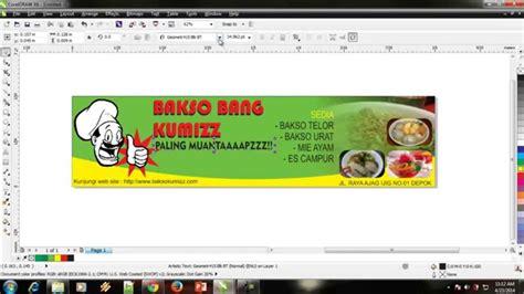 buat spanduk online gratis cara buat design spanduk bakso mantapz youtube