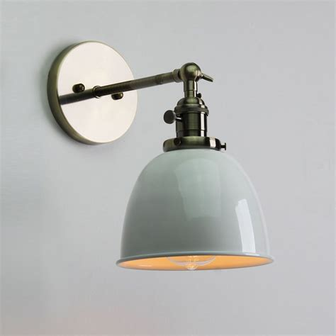 industrial style bathroom lighting vintage antique industrial bowl sconce loft wall light