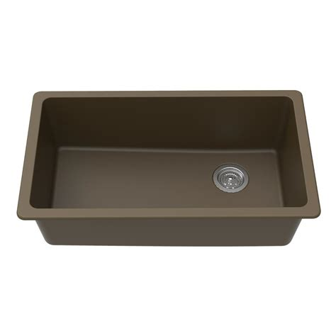 undermount kitchen sink with faucet holes winpro undermount granite composite 0 faucet hole 33 in l