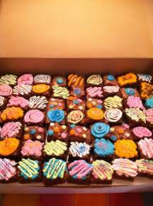 Decorated Brownies by Decorated Brownies Cuppy Cakes Brownies