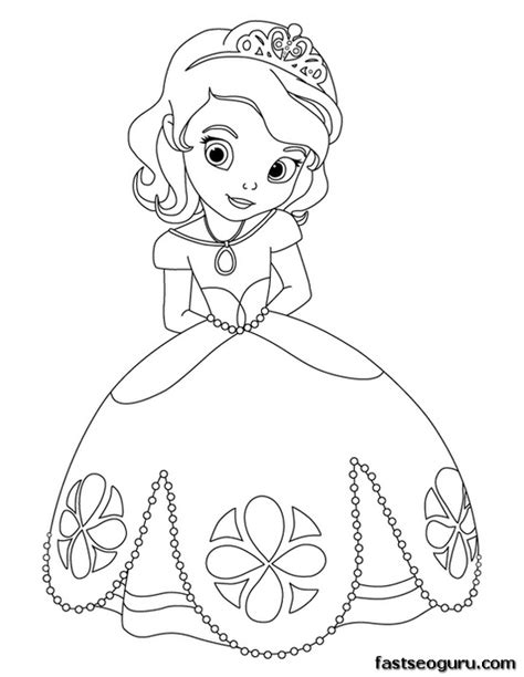 coloring pages cute princess printable cute princess sofia coloring pages for girls