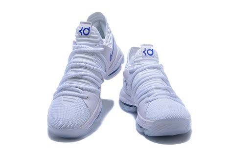 cheap nike sneakers for 2018 cheap nike kd 10 white royal blue sneakers for sale