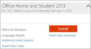 Reinstall Office 2013 by Microsoft Office Home And Student 2007 Confirmation Code