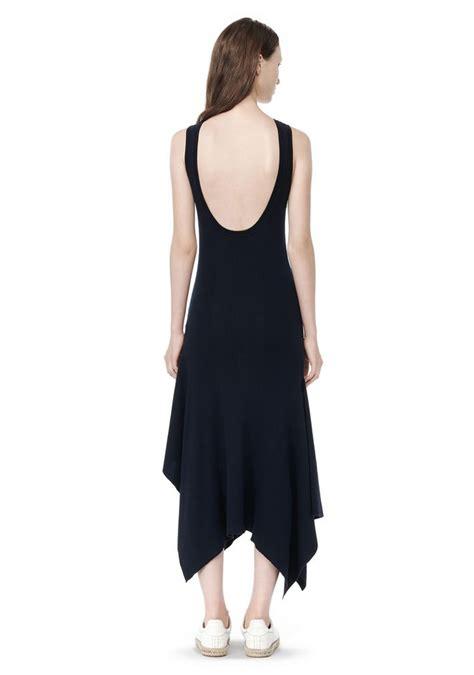 Simple Asimetris Knitt Dress wang rib knit asymmetrical dress knit dress official site