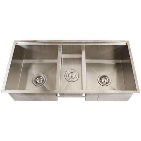 three bowl kitchen sink ticor tr1900 undermount 16 stainless steel bowl square kitchen sink accessories