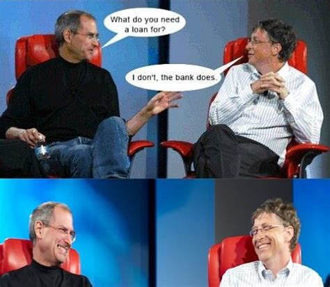 Steve Jobs Bill Gates Meme - mixed archives smilegag