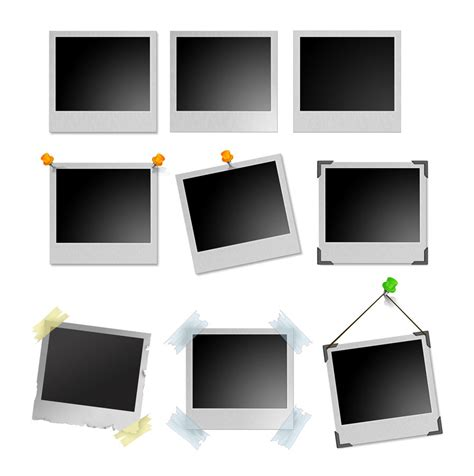 polaroid photoshop template polaroid frames psd templates vector graphics